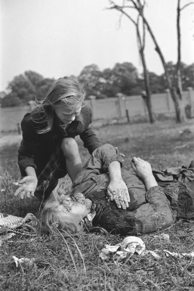 Polish jew shot by retreating germans ohrdruf 1945